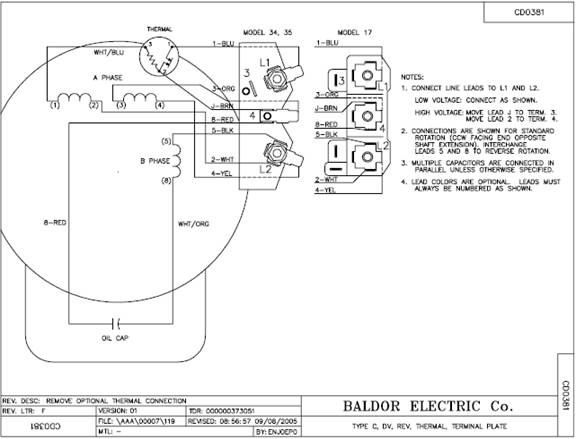 baldor_psc_35_wiring baldor electric motor capacitor wiring diagram circuit and baldor motor capacitor wiring diagram at bayanpartner.co